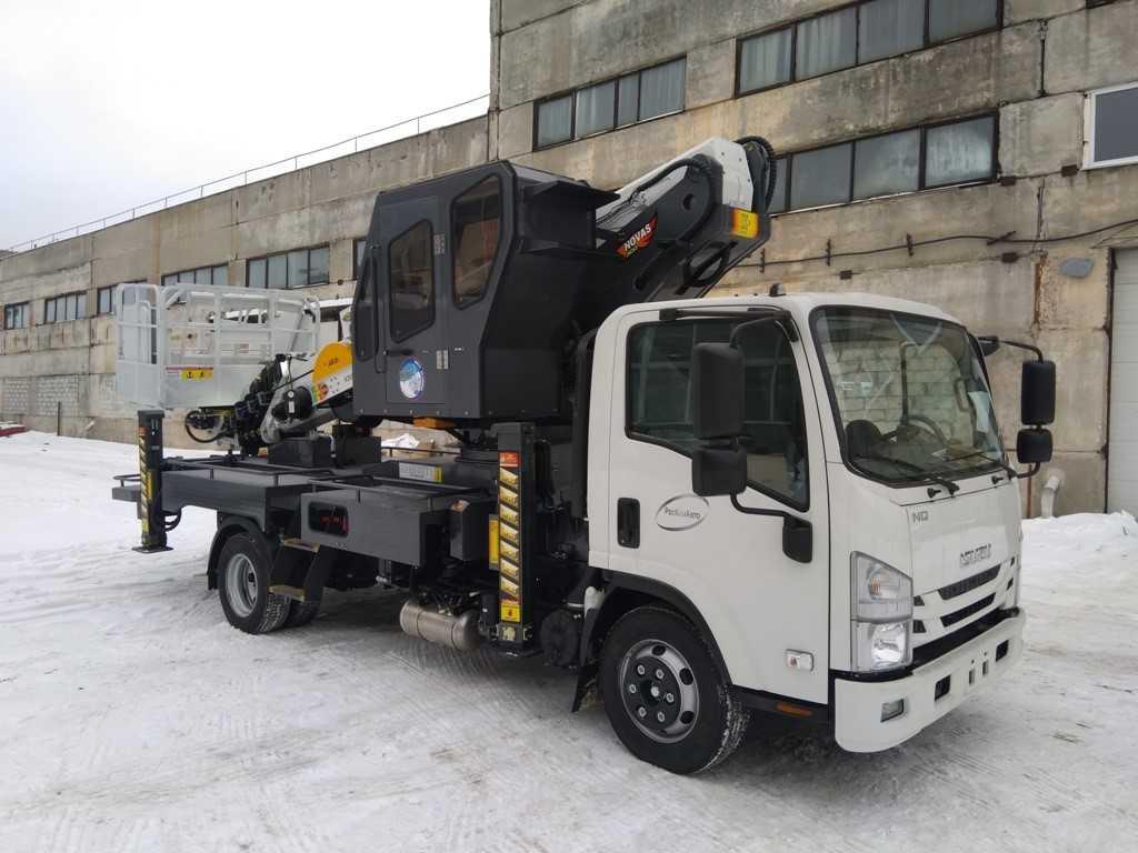 Обслуживание автовышки Novas 300 (30м) на шасси Isuzu NQR90